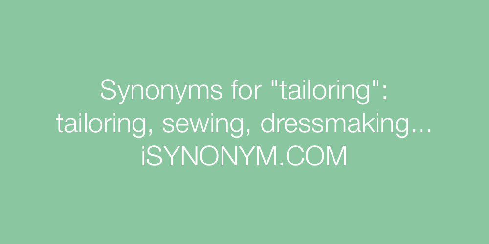 Synonyms tailoring
