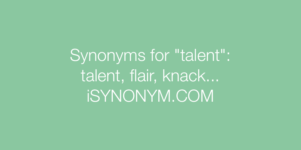 Synonyms talent