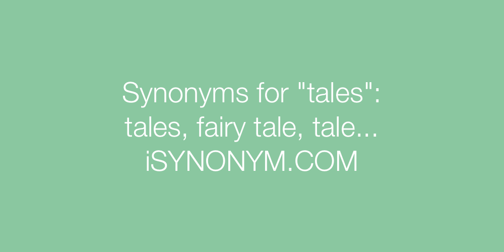 Synonyms tales