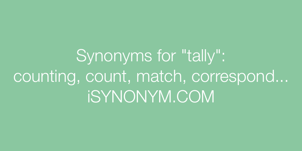 Synonyms tally
