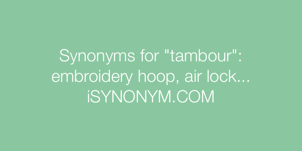 Synonyms tambour