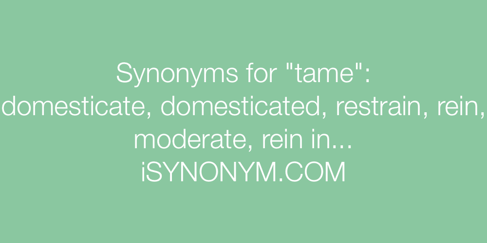 Synonyms tame