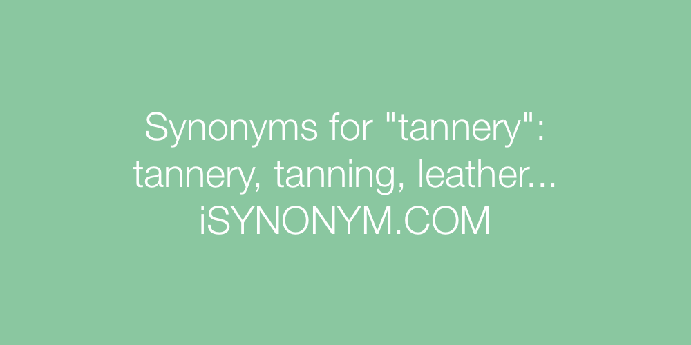 Synonyms tannery