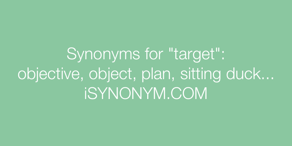 Synonyms target