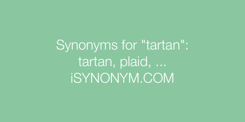 Synonyms tartan