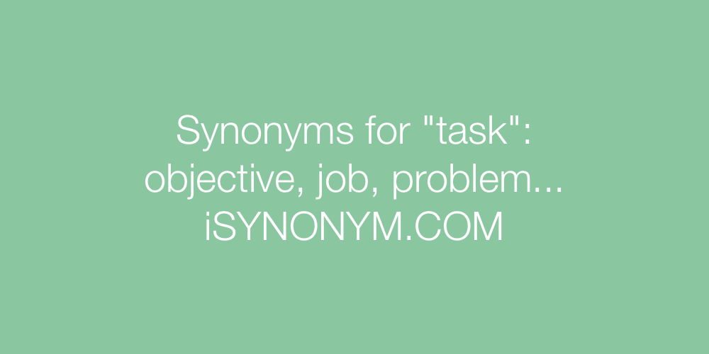 Synonyms task