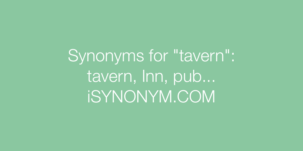 Synonyms tavern