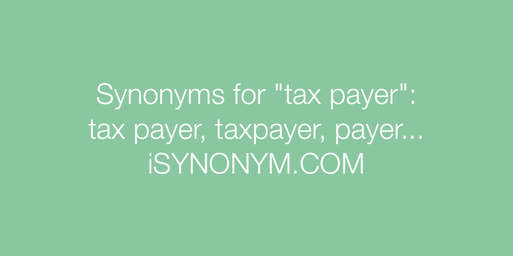 Synonyms tax payer