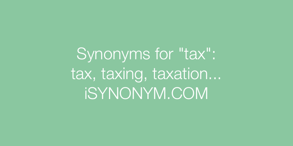 Synonyms tax