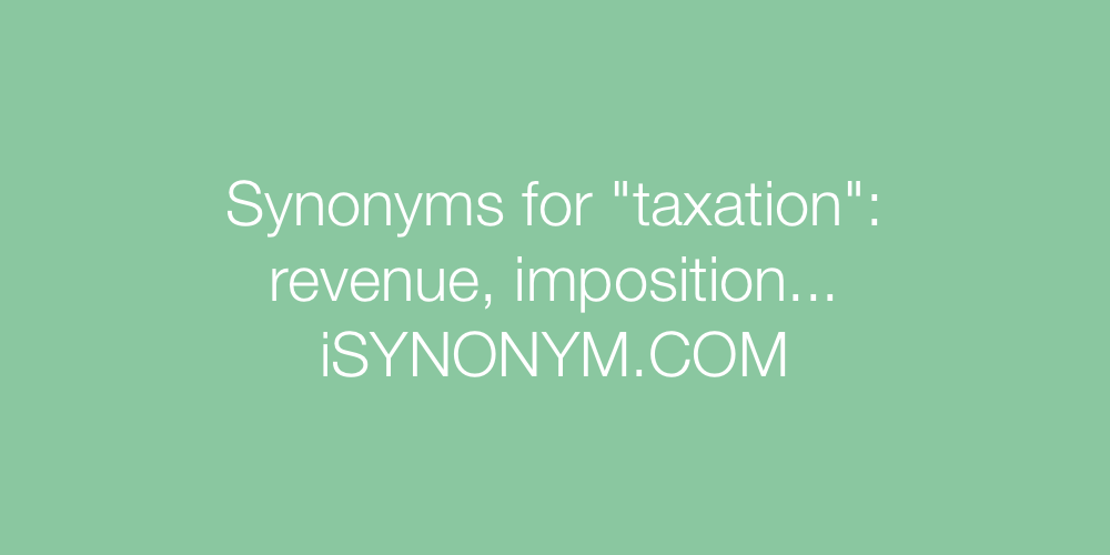 Synonyms taxation