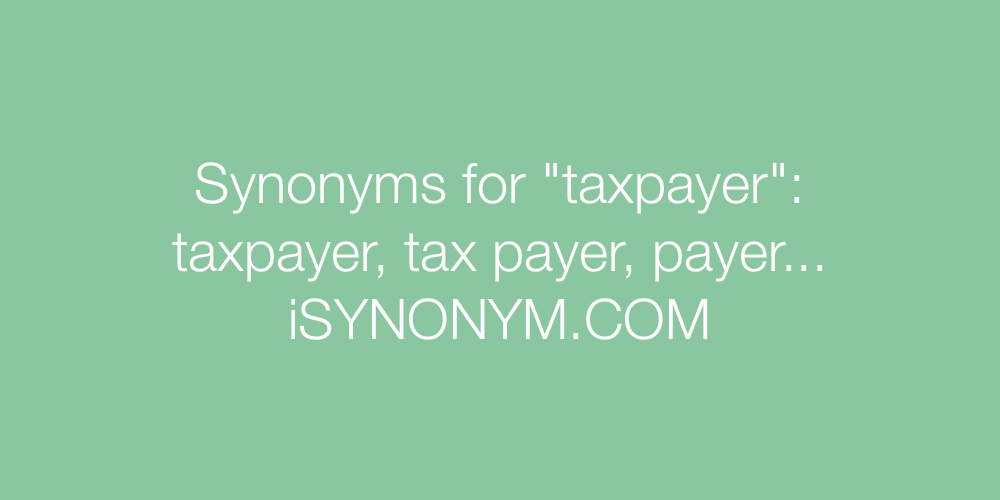 Synonyms taxpayer