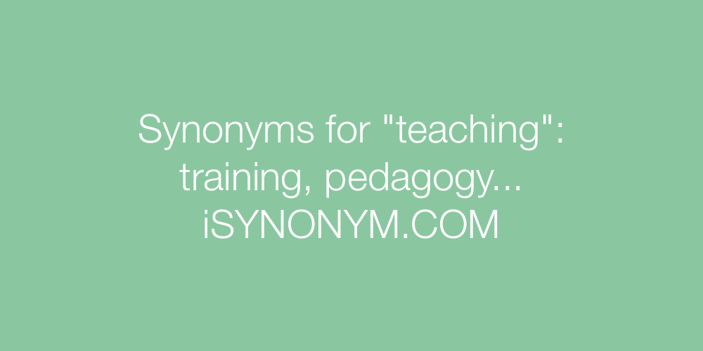 Synonyms teaching