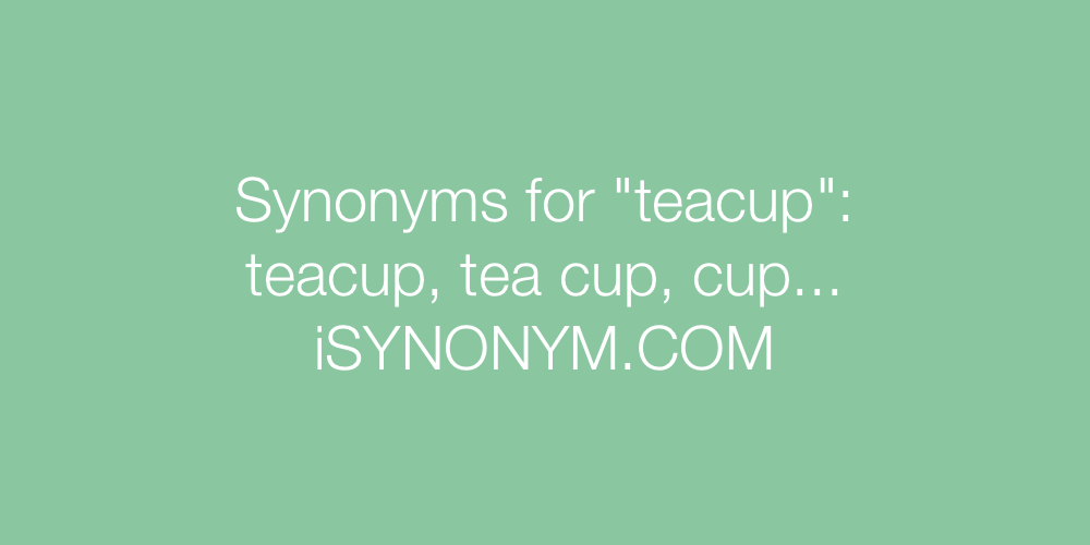 Synonyms teacup