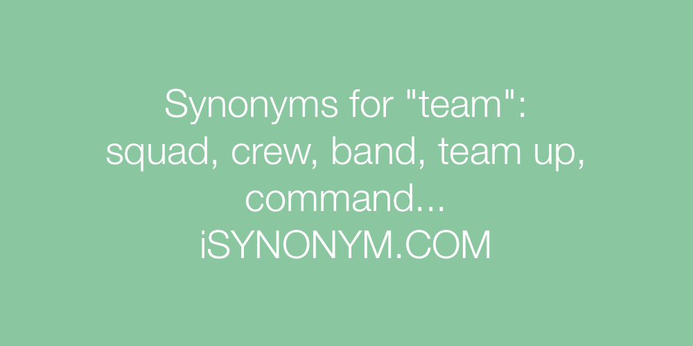 Synonyms team
