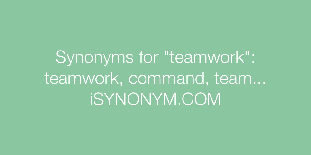 Synonyms teamwork