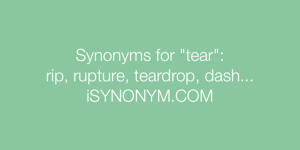 Synonyms tear