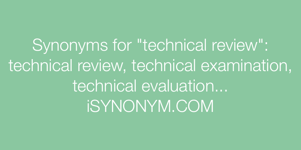 Synonyms technical review