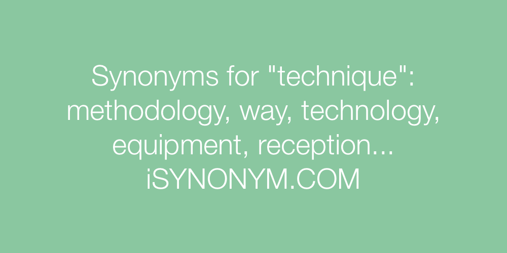 Synonyms technique