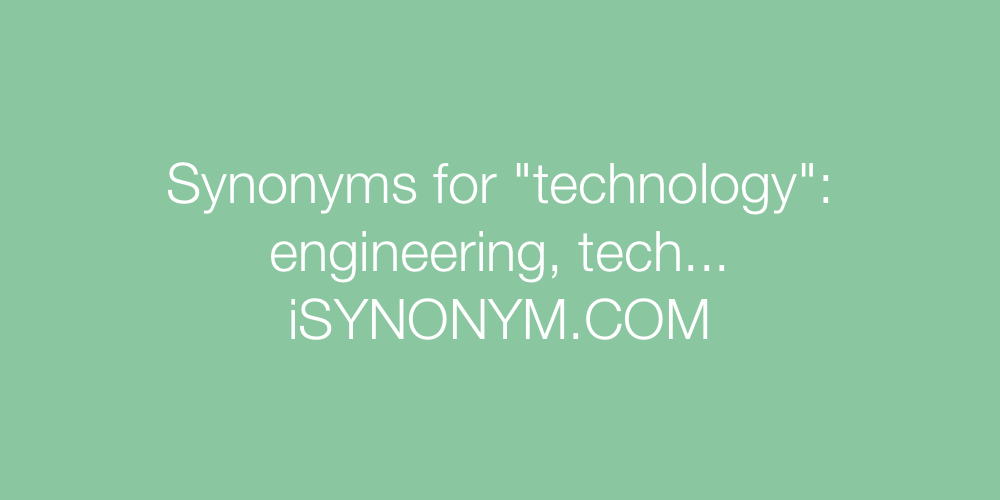 Synonyms technology