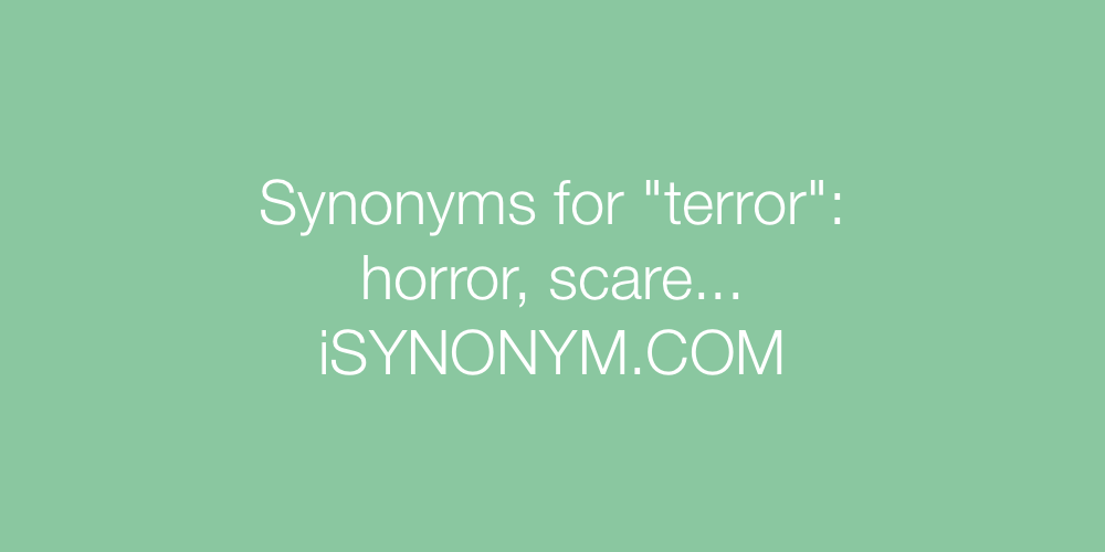 Synonyms terror