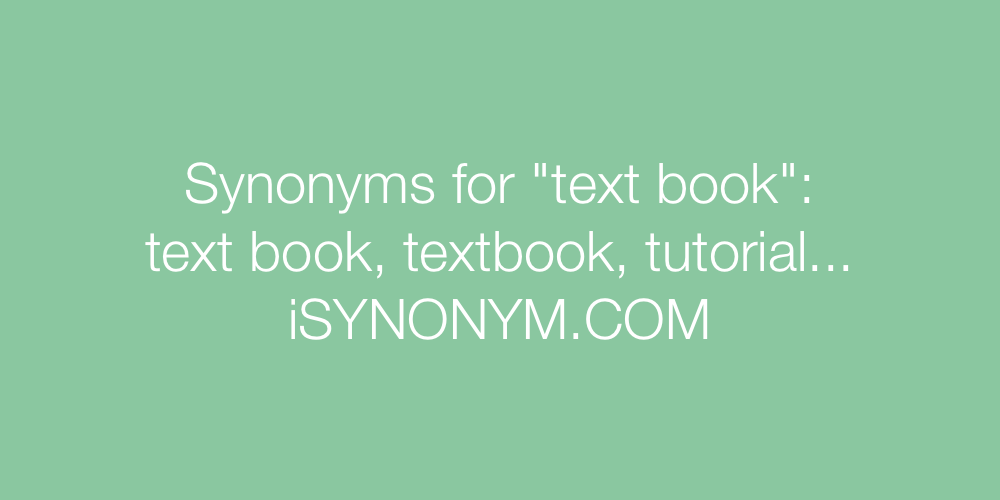 Synonyms text book