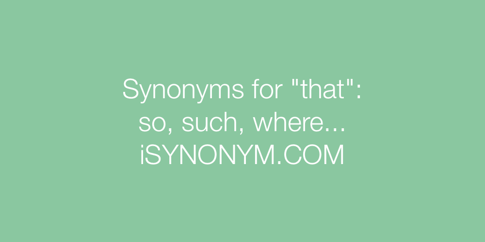 Synonyms that