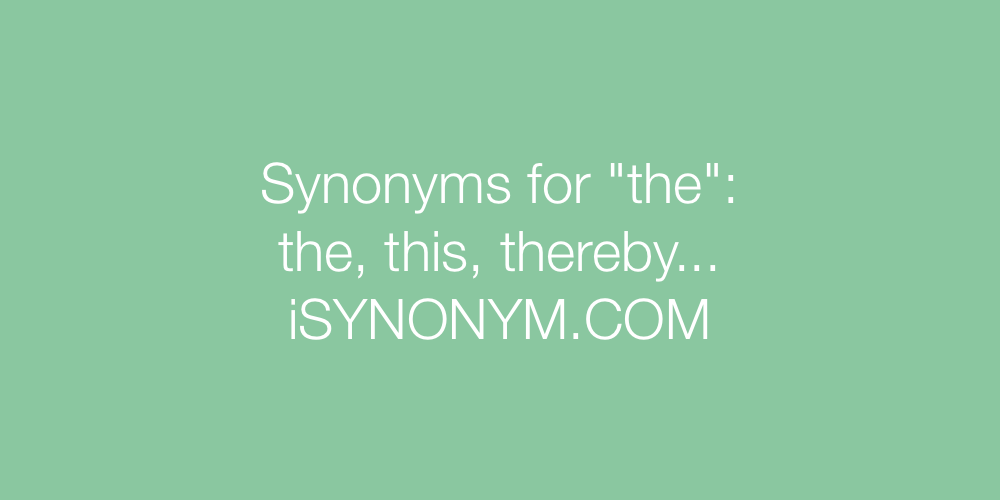 Synonyms the