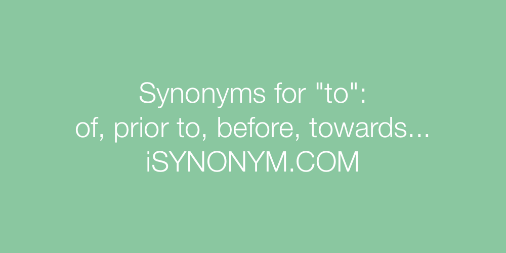 Synonyms to