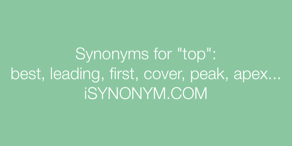 Synonyms top