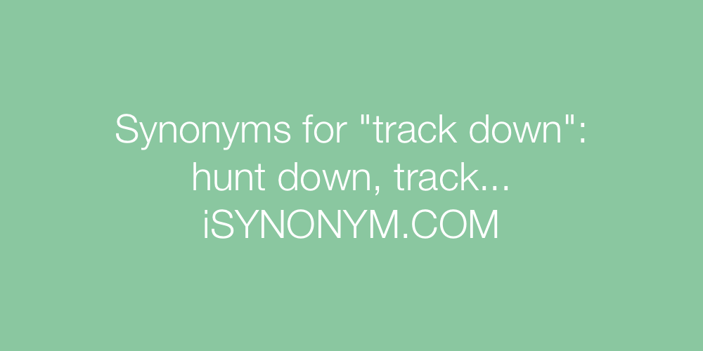 Synonyms track down