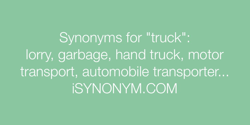 Synonyms truck