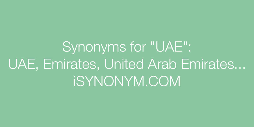 Synonyms UAE