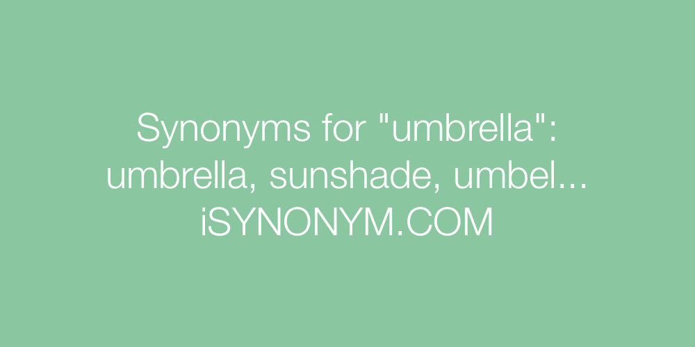 Synonyms umbrella