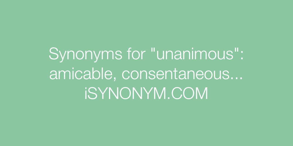 Synonyms unanimous