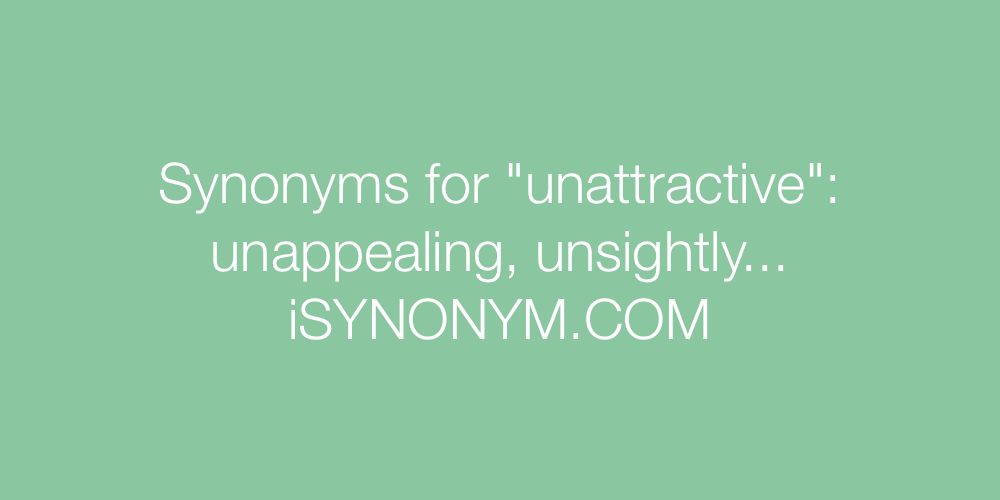 Synonyms unattractive