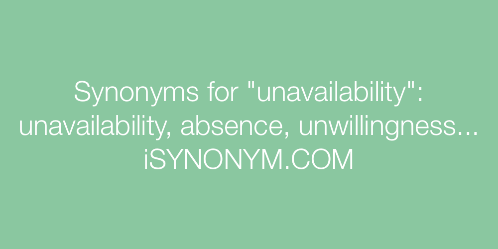 Synonyms unavailability