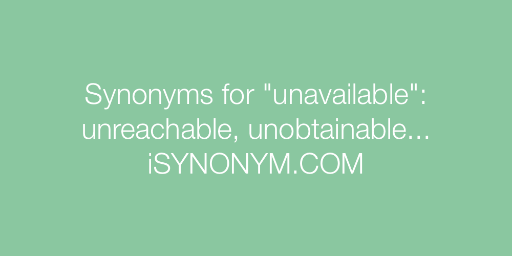Synonyms unavailable