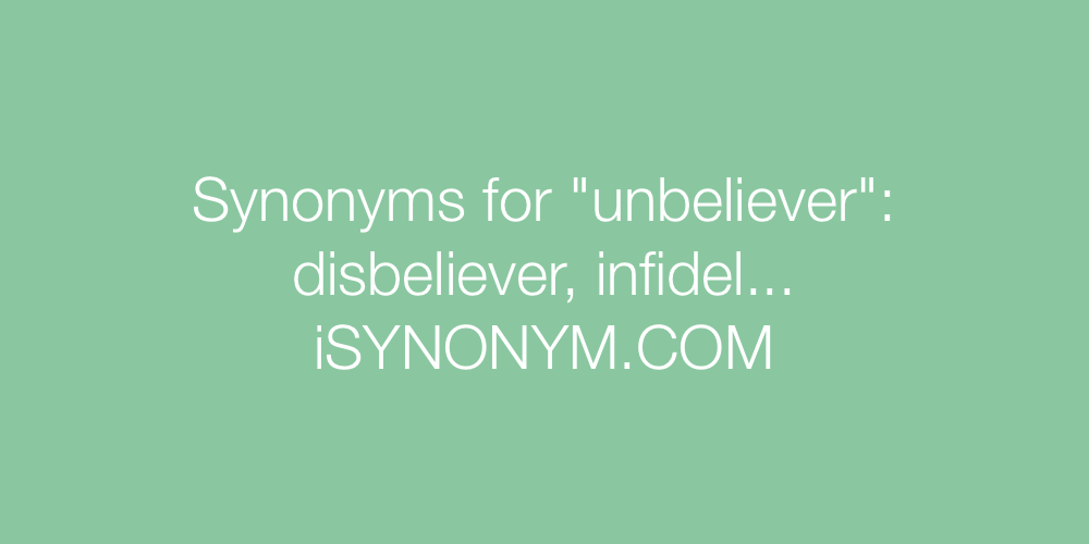 Synonyms unbeliever
