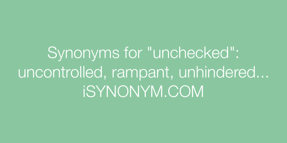 Synonyms unchecked