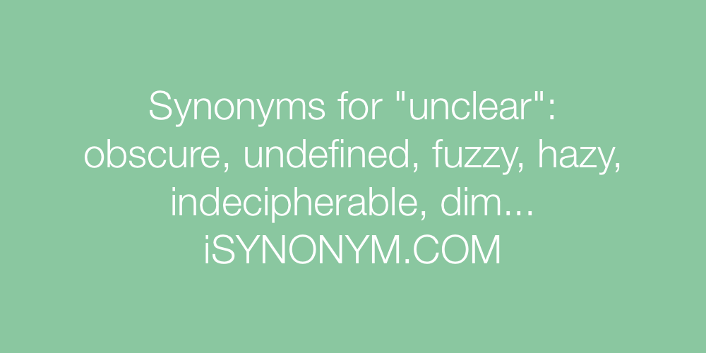 Synonyms unclear