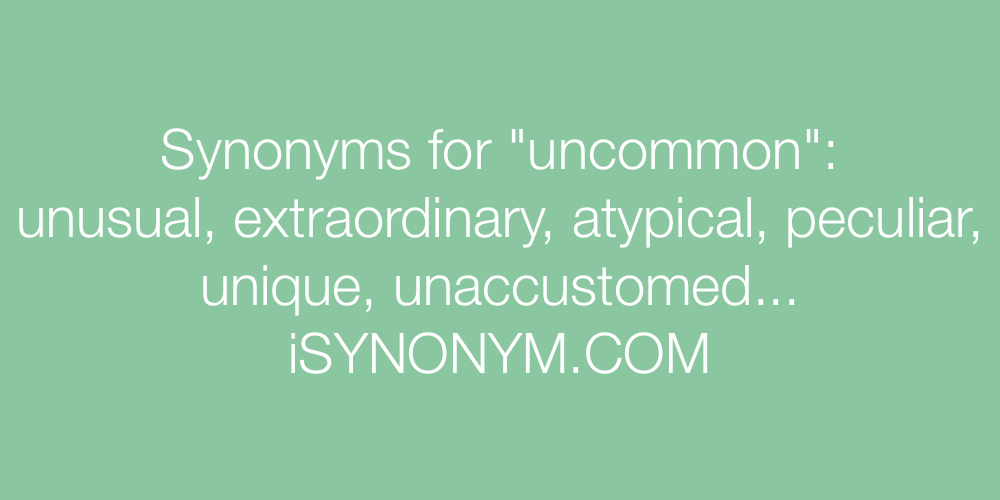 Synonyms uncommon