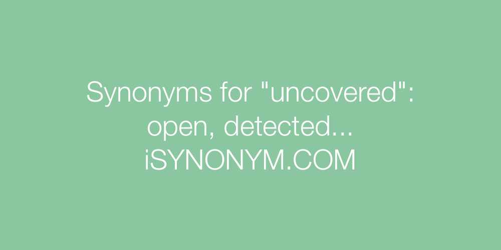 Synonyms uncovered