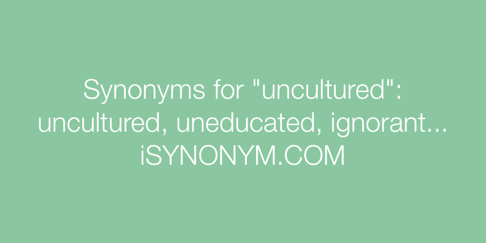 Synonyms uncultured