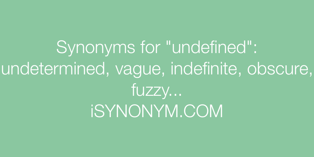 Synonyms undefined