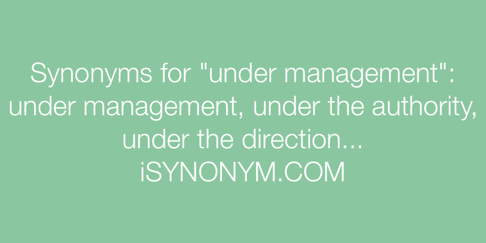Synonyms under management