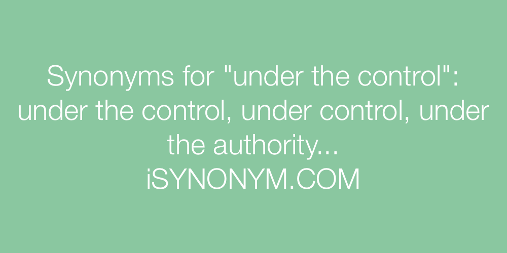 Synonyms under the control