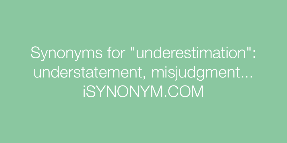 Synonyms underestimation
