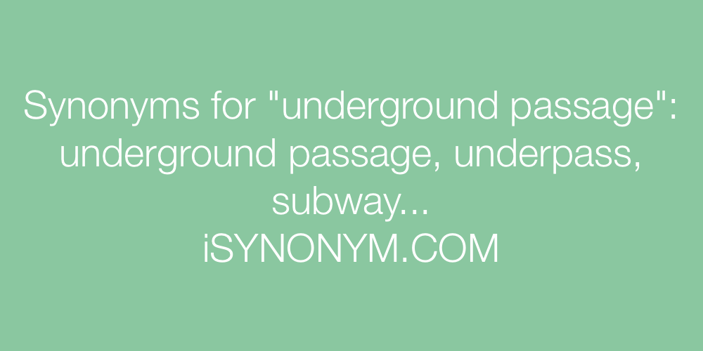 Synonyms underground passage