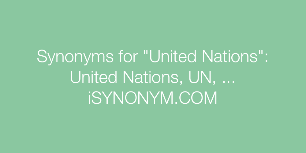 Synonyms United Nations