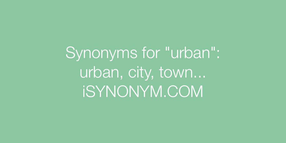 Synonyms urban